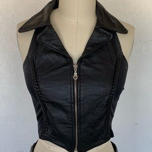 Jackets & Coats - Faux leather vest